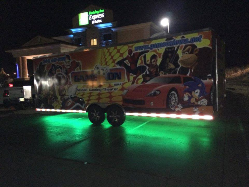 Game On snapped this picture on their way back to Iowa! Awesome Game Truck Under-Glow!